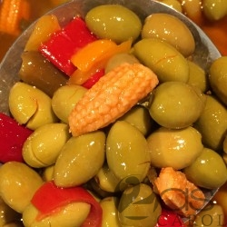 Olives Vertes sauce MEXICAINE