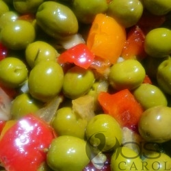 Olives Vertes sauce Andalouse