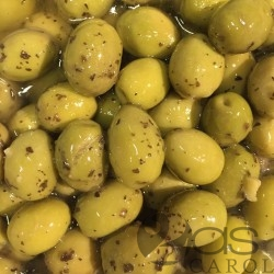 Olives Vertes sauce Pistou (Basilic)