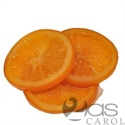 Orange confite en tranches