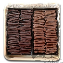 Plateau d'Orangettes au chocolat Noir et au Lait