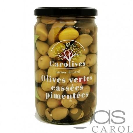 Olives Vertes KC Pimentées Bocal 400g